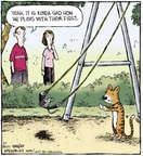 Cartoonist Dave Coverly  Speed Bump 2014-08-01 playing
