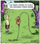 Comic Strip Dave Coverly  Speed Bump 2014-08-05 dog fence