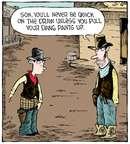 Cartoonist Dave Coverly  Speed Bump 2014-12-03 gun