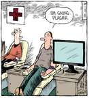 Cartoonist Dave Coverly  Speed Bump 2015-01-01 television cartoon