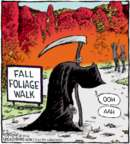 Cartoonist Dave Coverly  Speed Bump 2016-10-14 fall autumn