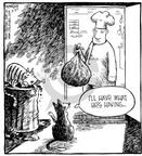 Cartoonist Dave Coverly  Speed Bump 2001-03-27 food consumption