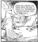 Cartoonist Dave Coverly  Speed Bump 2002-04-08 food consumption