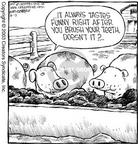 Cartoonist Dave Coverly  Speed Bump 2003-08-13 food consumption