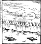 Cartoonist Dave Coverly  Speed Bump 2005-08-03 south