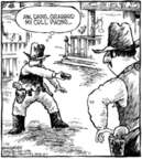 Cartoonist Dave Coverly  Speed Bump 2006-01-25 gun
