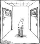 Cartoonist Dave Coverly  Speed Bump 2006-02-21 between