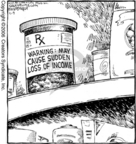 Cartoonist Dave Coverly  Speed Bump 2006-11-09 pharmaceutical