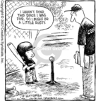Cartoonist Dave Coverly  Speed Bump 2007-03-28 baseball hit