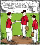 Cartoonist Dave Coverly  Speed Bump 2007-07-04 baseball game