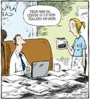 Cartoonist Dave Coverly  Speed Bump 2008-04-18 telecommuting