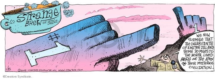 Comic Strip John Deering  Strange Brew 2008-01-13 broadcaster