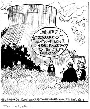 Cartoonist John Deering  Strange Brew 2007-11-10 nuclear power