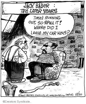 Comic Strip John Deering  Strange Brew 2007-12-20 spill