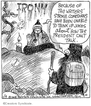 Comic Strip John Deering  Strange Brew 2008-01-09 bush