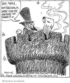 Comic Strip John Deering  Strange Brew 2008-01-12 finance investment