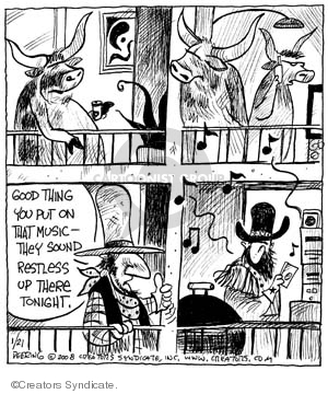 Cartoonist John Deering  Strange Brew 2008-01-21 old west