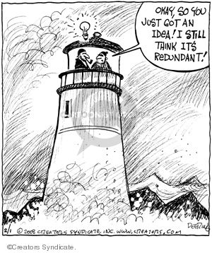 Comic Strip John Deering  Strange Brew 2008-02-01 bulb