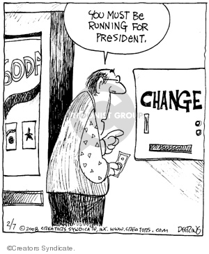 Comic Strip John Deering  Strange Brew 2008-02-07 2008 election
