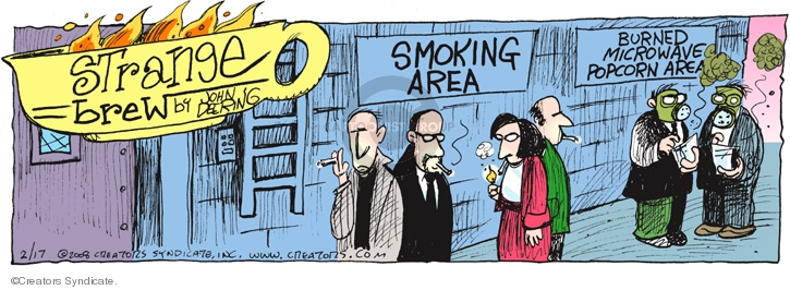 Cartoonist John Deering  Strange Brew 2008-02-17 cooking