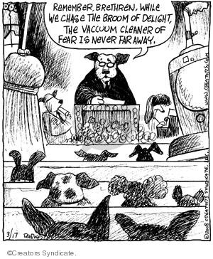 Comic Strip John Deering  Strange Brew 2008-03-17 ritual