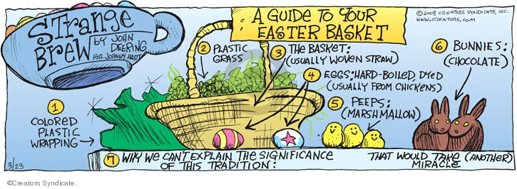 Comic Strip John Deering  Strange Brew 2008-03-23 easter bunny