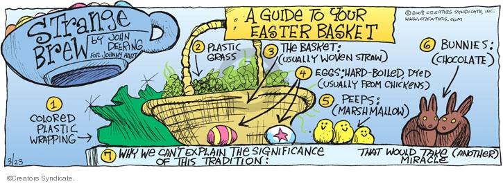 Comic Strip John Deering  Strange Brew 2008-03-23 Easter basket