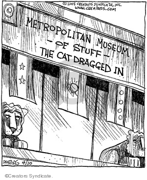 Comic Strip John Deering  Strange Brew 2008-04-10 lion
