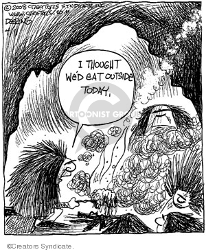 Comic Strip John Deering  Strange Brew 2008-04-11 outdoors
