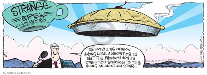 Comic Strip John Deering  Strange Brew 2008-06-01 2008 election