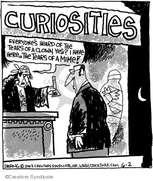 Comic Strip John Deering  Strange Brew 2008-06-02 clown