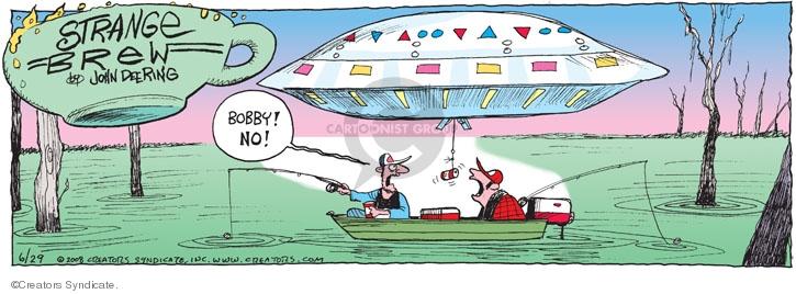 Comic Strip John Deering  Strange Brew 2008-06-29 alien