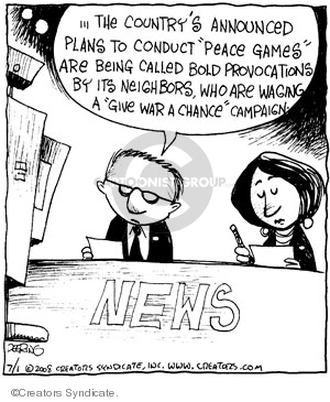 Comic Strip John Deering  Strange Brew 2008-07-01 foreign policy
