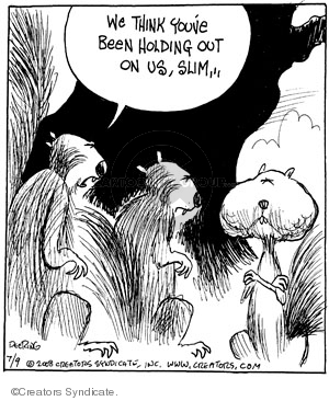 Comic Strip John Deering  Strange Brew 2008-07-09 nut