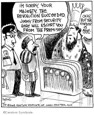 Cartoonist John Deering  Strange Brew 2008-07-10 king