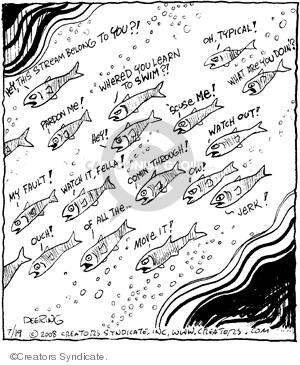 Comic Strip John Deering  Strange Brew 2008-07-19 'scuse