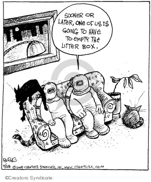 Comic Strip John Deering  Strange Brew 2008-07-28 cat litter box