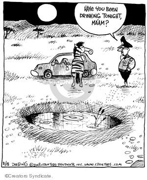 Cartoonist John Deering  Strange Brew 2008-08-18 tonight