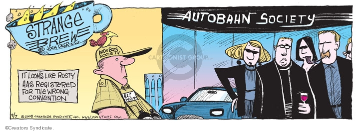 Cartoonist John Deering  Strange Brew 2008-09-07 highway