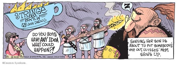 Cartoonist John Deering  Strange Brew 2008-09-21 sense