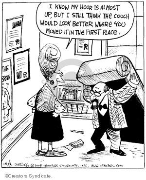 Comic Strip John Deering  Strange Brew 2008-10-03 hour