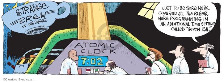 Comic Strip John Deering  Strange Brew 2008-10-05 atomic