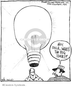 Comic Strip John Deering  Strange Brew 2008-10-06 bulb