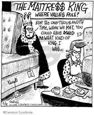 Cartoonist John Deering  Strange Brew 2008-05-05 king