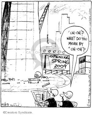 Comic Strip John Deering  Strange Brew 2008-10-25 building plan