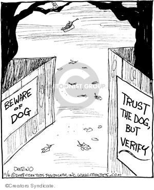 Comic Strip John Deering  Strange Brew 2008-11-06 beware of dog
