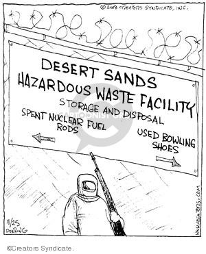 Cartoonist John Deering  Strange Brew 2008-11-25 guard
