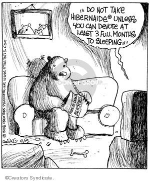 Comic Strip John Deering  Strange Brew 2008-12-15 insomnia
