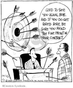 Cartoonist John Deering  Strange Brew 2009-01-07 arrow