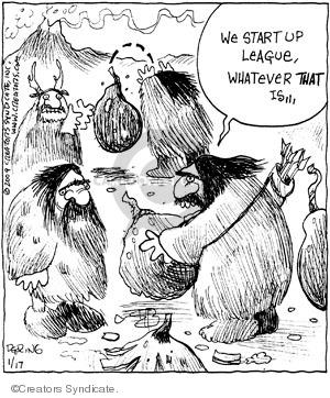 Comic Strip John Deering  Strange Brew 2009-01-17 caveman
